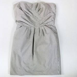 UK French Connection Stripped Strapless Dress